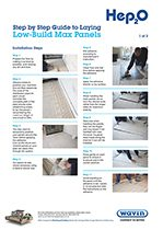 Hep2O underfloor heating Low-Build Max panels installation guide