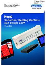 Hep2O underfloor heating 8 zone control centre installation guide