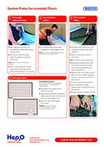 Hep2O system plates installation guide